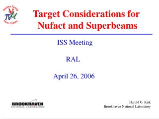 Target Considerations for  Nufact and Superbeams