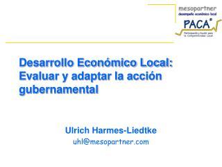 Desarrollo Económico Local: Evaluar y adaptar la acción gubernamental