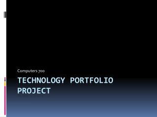 Technology Portfolio Project