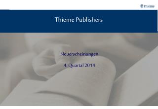 Thieme Publishers
