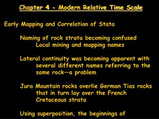 Chapter 4 - Modern Relative Time Scale