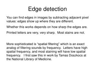 Edge detection