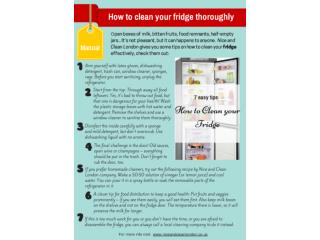 How to clean your fridge thoroughly
