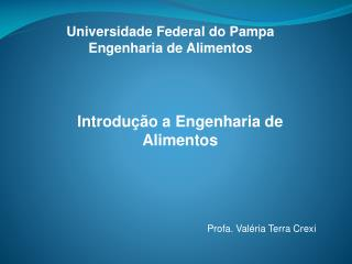 Universidade Federal do Pampa  Engenharia de Alimentos