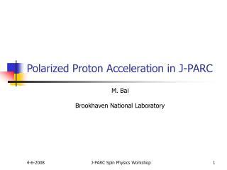 Polarized Proton Acceleration in J-PARC