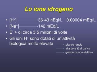 Lo ione idrogeno