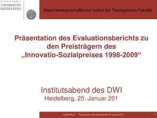 Diakoniewissenschaftliches Institut der Theologischen Fakultät