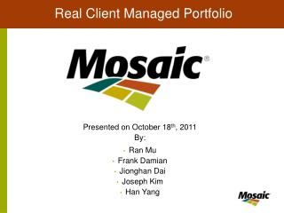 Real Client Managed Portfolio
