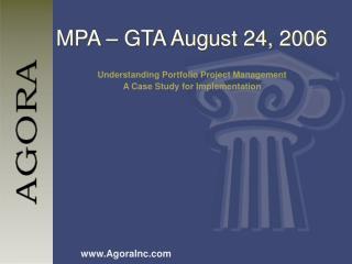 MPA – GTA August 24, 2006