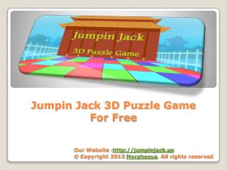 Jumpin Jack - 3D Puzzle Game for iPhone, iPad & Android