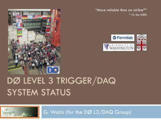 DØ Level 3 Trigger/DAQ System Status