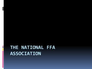 The National FFA Association