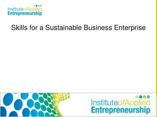 Skills for a Sustainable Business Enterprise