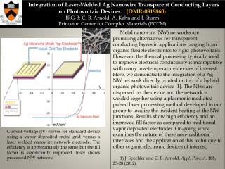 Princeton Univ MRSEC 0819860 IRG-B Integration of Ag Nanowire