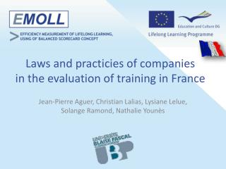 L aws  and  practicies  of  companies in the  evaluation  of training in France