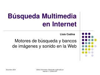 Búsqueda Multimedia en Internet