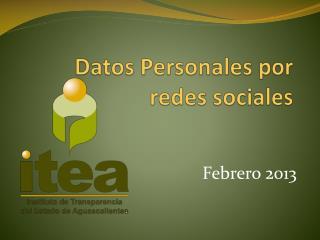 Datos Personales por redes sociales