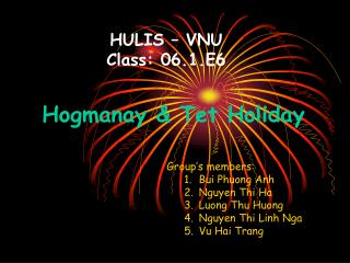 HULIS – VNU Class: 06.1.E6