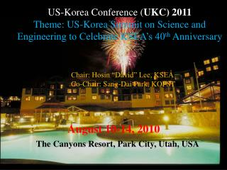 US-Korea Conference ( UKC) 2011