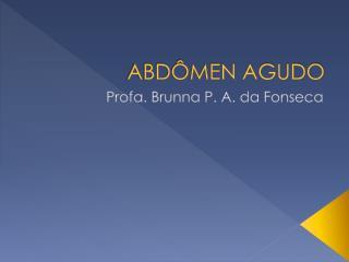 ABDÔMEN AGUDO