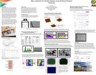 High-  Dielectric for Flexible Displays using Anodized Tantalum Pentoxide Jovan Trujillo