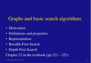 Graphs and basic search algorithms