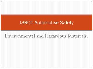 JSRCC Automotive Safety