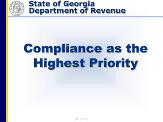 Compliance as the Highest Priority