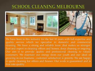 School Cleaning Melbourne