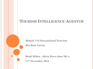 Tourism  Intelligence  Agentur