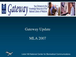 Gateway Update MLA 2007