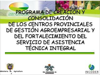 Porqué  surgen  los  Centros   Provinciales   de   Gestión   Agroempresarial?