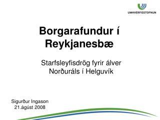 Borgarafundur � Reykjanesb�