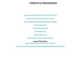 CREDITS & RESOURCES