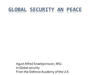 Global security an peace