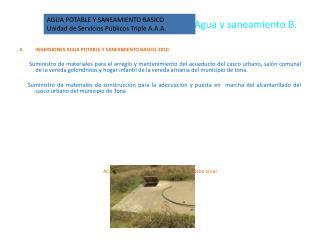 Agua y saneamiento B.