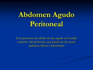 Abdomen Agudo Peritoneal
