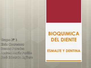 BIOQUIMICA DEL DIENTE ESMALTE Y DENTINA
