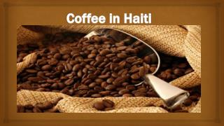 Coffee in Haiti