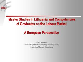 Master Studies in Lithuania and Competencies of Graduates on the Labour Market    A European Perspective