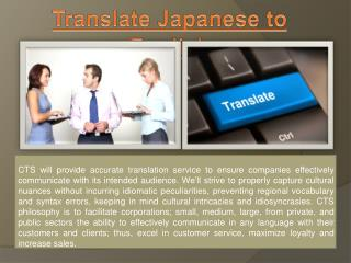 Translate Japanese to English