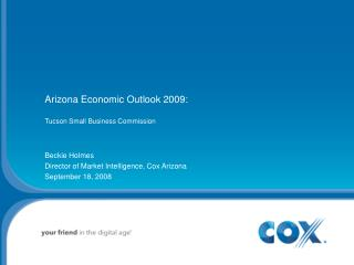 Arizona Economic Outlook 2009:  Tucson Small Business Commission
