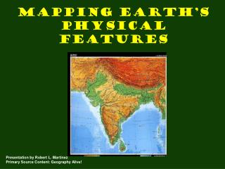 Mapping Earth's Physical Features