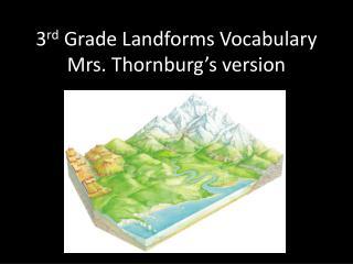3 rd  Grade Landforms Vocabulary Mrs. Thornburg's version