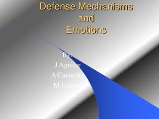 Defense Mechanisms and Emotions