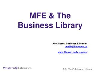 MFE &  The  Business Library