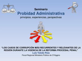 Seminario  Probidad Administrativa principios, experiencias, perspectivas