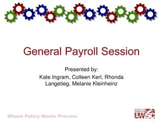 General Payroll Session