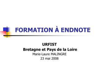 FORMATION  À ENDNOTE