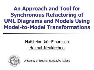 Hafsteinn Þór Einarsson Helmut Neukirchen University of Iceland, Reykjavík, Iceland